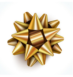 golden gift bow vector image