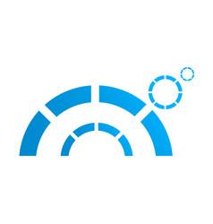 half circle logo abstract corporate symbol vector image