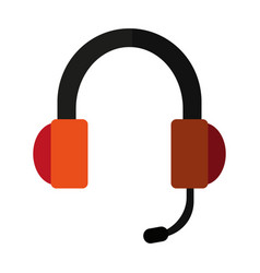 headset headphones and microphone icon imag vector image