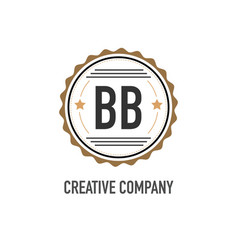 initial letter bb creative design template vector image