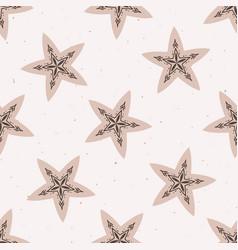 Inter rustic stars lino cut texture seamless vector