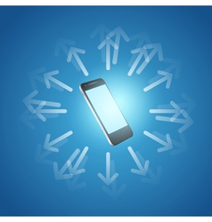 Internet and mobilephone concept symbol vector image