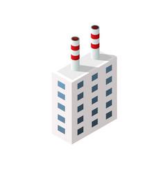 Isometric 3d city module industrial urban factory vector
