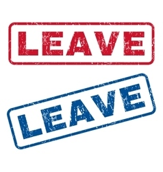 Leave Rubber Stamps vector