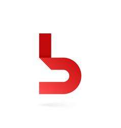 Letter b logo on white alphabet background vector
