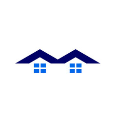 Letter m abstract home residence logo icon vector