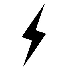 Lightning the black color icon vector