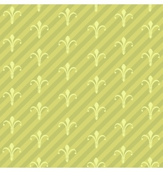 Lilies and Stripse Pattern vector image