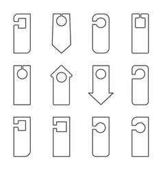linear icons of different shapes for the signs on vector image