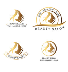 Logo for beauty salon spa salon beauty shop vector