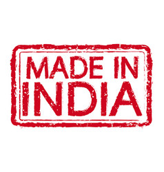 made in india stamp text vector image
