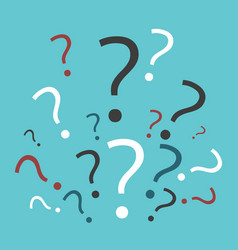 many multicolor question marks vector image