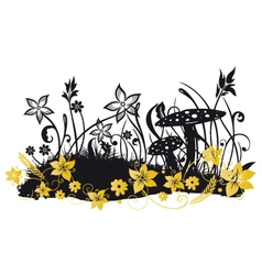 Meadow with flowers vector image