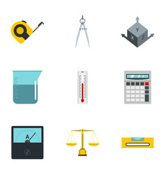 Measure instrumentation icon set flat style vector