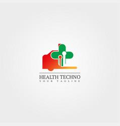 Medical service logo template design creative vector