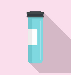 Medical sterilized jar icon flat style vector