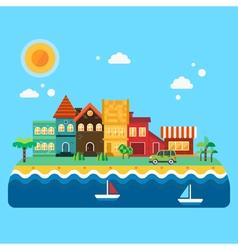 Miami houses vector