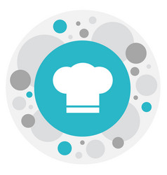 of food symbol on chef hat vector image