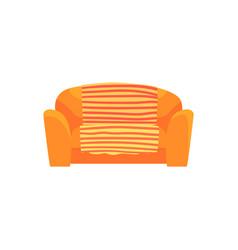 orange sofa living room or office interior vector image