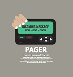 Pager The Old Wireless Telecommunication vector image