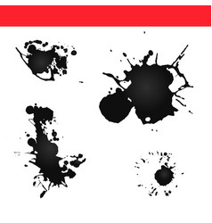 paint splatter splash ink vector image