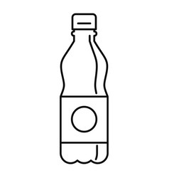 Plastic water bottle icon outline style vector