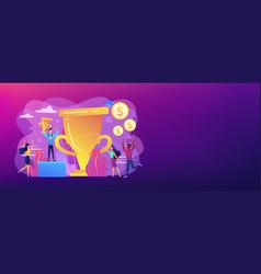prize pool concept banner header vector image