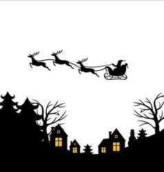 santa fly vector image