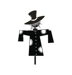 Scarecrow icon black vector image