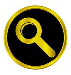 Seach sign button vector