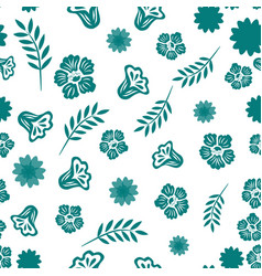 seamless pattern from abstract flowers and vector image