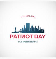 September 11 patriot day vector