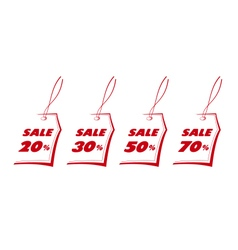 Set sale labels vector image
