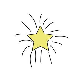 Shiny star art design icon vector