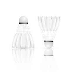 shuttlecock with reflection badminton - sport vector image