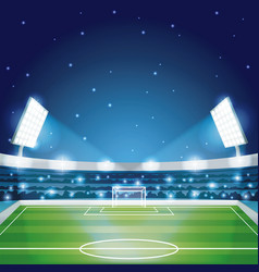 Soccer stadium field vector