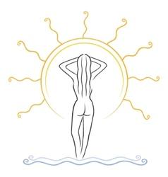 Tanning symbol vector
