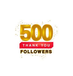 Thank you 500 followers banner design template vector