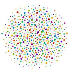Vibrant color soap bubles or confetti festive vector