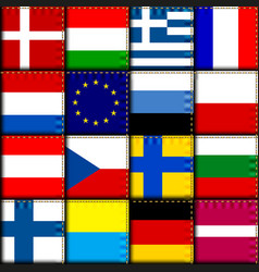 Vintage europe patchwork pattern vector