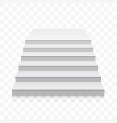 white stairs white 3d realistic staircase vector image