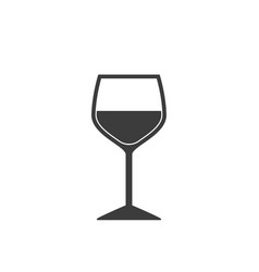 wine glass icon in flat style on white background vector image