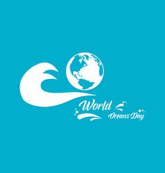 World ocean day art vector