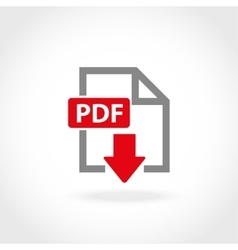 PDF icon set vector image
