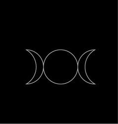 Triple Goddess- Neopaganism vector image