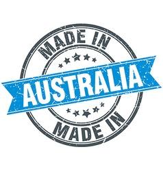 Made in australia blue round vintage stamp vector