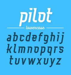 Pilot modern aviator font lowercase letters vector