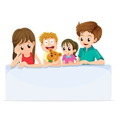 A family comforting a member of their family vector image vector image