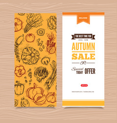 banner with autumn harvest vector image vector image