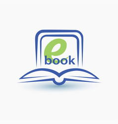 ebook stylized symbol vector image